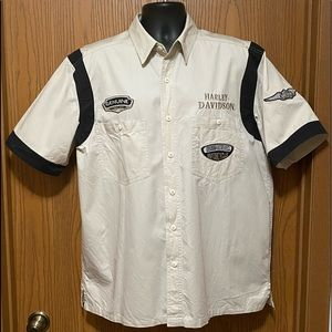 Harley Davison button up shirt